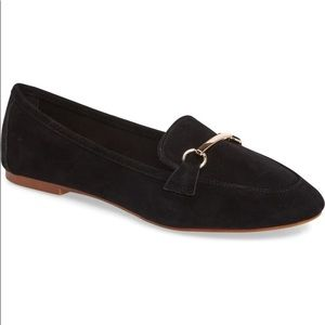 TopShop Black Suede Libby Softy Loafer